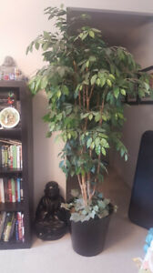 Large beautiful fake/artificial tree. Pot alone worth the $$!