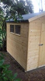 8ft x 6ft Wooden Apex Garden Shed