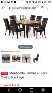 Real Marble Dining Table (5 pieces)
