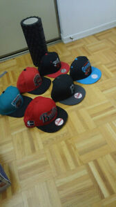 NewEra & Mitchell and Ness Snap Backs Hats for sale