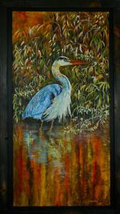 Blue herons.Solitude in Stillness.