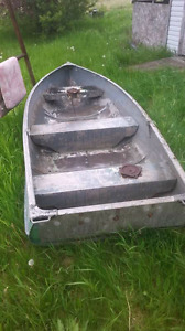 Boat and two working motors or trade for dirt bike for sale