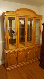 dining table and 8 chairs kent. oak dining room hutch/buffet and table with 8 chairs kent