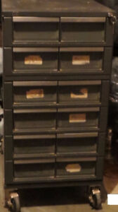 WRIGHT LINE 12 DRAWER INDUSTRIAL METAL TOOL CABINET 18' X 30""
