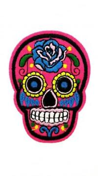 BBBRASIL Skull Patch Hot Pink