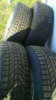 """Four GM 17"""" Rimmed Winter Tires"""
