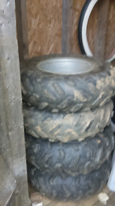 4 tires 2 24x8x12 and 2 24x10x12 150 obo or trade for razrs