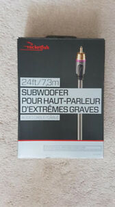 ROCKETFISH 12 FOOT SUBWOOFER CABLE ! BRAND NEW !