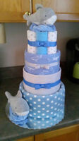 Someone in your Office having a BABY....Split on a Diaper Cake