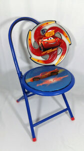 The Cars Two Piece Bundle Foldable McQueen Stool n Funky Frisby