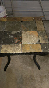 """one ceramic tile end table 24"""" x 24 """" $25.00 519-502-1370"""
