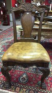 Walnut grandover splatback side chair