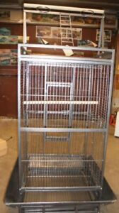 """4 doors Cage for Parrot etc.. play station at top H55""""xW22""""xL24"""""""