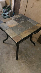 """one ceramic tile end table 24"""" x 24 """" $25.00 .....519-502-1370"""