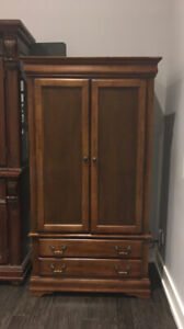 MOVING SALE - Solid Wooden Wardrobe (Armoire) - Negotiable