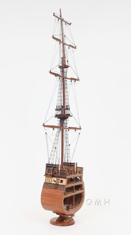 "USS Constitution Cross Section Wooden Tall Ship Model 34"" Old Ironsides Navy New"
