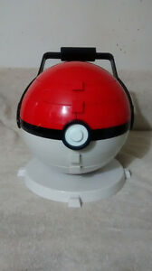 1999 Rare Nintendo Pokeball Marble Holder with marlbles and bags