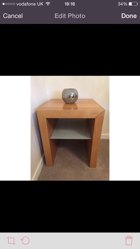 Lamp side tables with glass insert. Have two to sell.