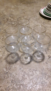 18 piece gold crystal glasses