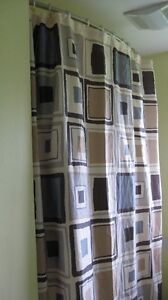 Shower curtain and curtain rod hooks