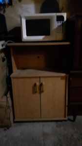 Microwave and Stand