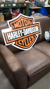 LARGE HARLEY DAVIDSON AND INDIAN MOTORCYCLE SIGNS