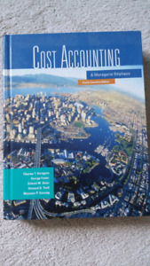 Cost Accounting A Managerial Emphasis 4th Canadian Ed.