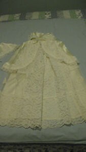 CHRISTENING GOWN, CAPE & HAT