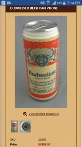 Antique Budweiser Beer can phone