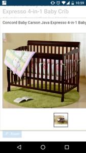 Baby Crib with matress - $60