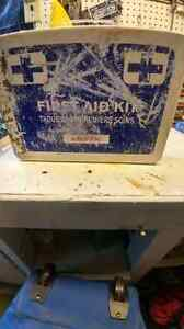 First aid kit in steel hangable box with handle London Ontario image 1