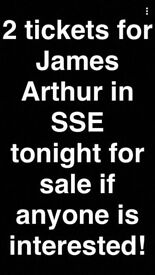 2 James Arthur tickets