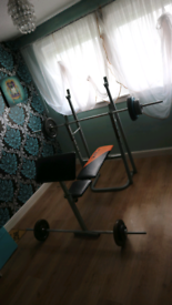Gym bench and accessories