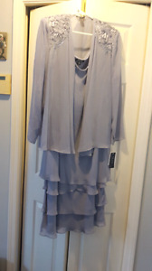 Lavender dress New with tages size 18