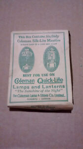 ANTIQUE COLEMAN MANTLES BOX