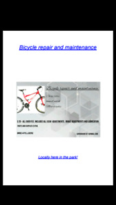 Bicycle repair and maintenance