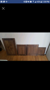 Solid walnut cupboard doors