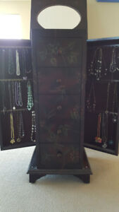 "Large Jewelry Cabinet 41"" H x 18"" W x 16"" D"