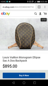 100% authentic louis vuitton bag