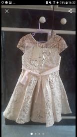 MONSOON CHILDREN GOLD DRESS AGE 7 YEARS