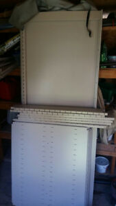 Large metal shelving unit, excellent condition
