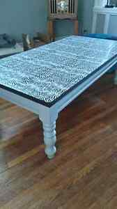 Zebra print coffee table