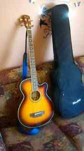 Acoustic/electric bass guitar for sale 548-6105