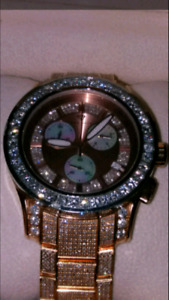Mens Aqua Master 13.60ct Diamond Watch Rolex Breitling