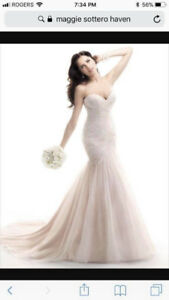 """NEW 'Maggie Sottero """"Haven""""'  - REDUCED (Bridal size18)"""