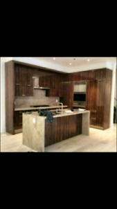 Display Kitchen cabinets and granite island