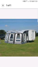 Kampa awning 400 and carpet and extra poles and ceiling cover and grou