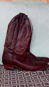 BROWN Size 9.5 BOULET COWBOY BOOTS ONLY $80