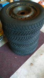 "Set of 4 Winter Tires on 15"" Steel Rims $200 OBO"