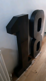 3D standing number handmade